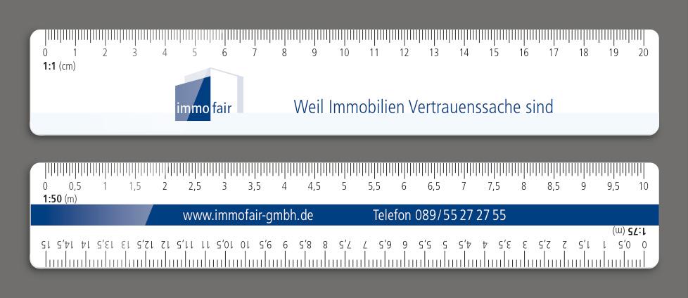 Druck Skalenlineal : : Lineale mit Wunschskalen und Logo