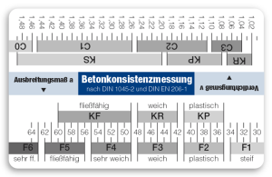 Betonkonsistenzkarte