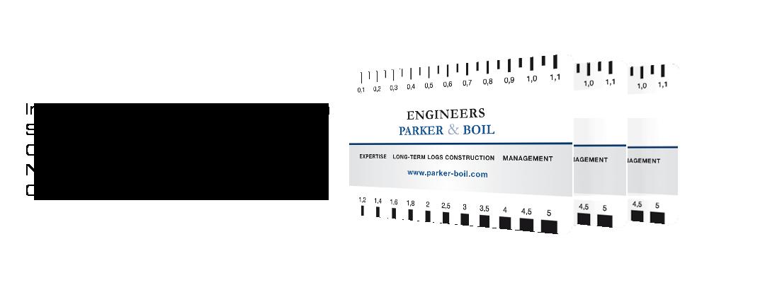 Crack Width Ruler Logo Printery individual print