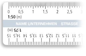 Regla de presión con escalas reductoras con logo