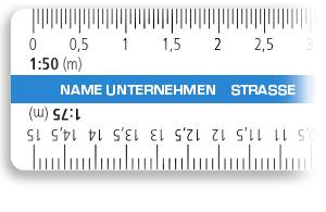 Lineal mit Reduktions-Maßstäben