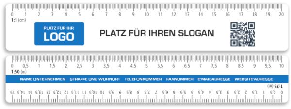 Skalenlineal Skalenreduktionsmaßstab Druck mit Logo