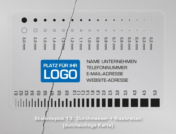 Druck Winkel / Grad / Winkelmesser / Raster / Karte / Rissbreitenlineal / Logo